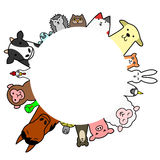 Pets  and livestock circle with copy space Royalty Free Stock Photos