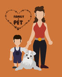 Pets love design Stock Images