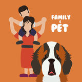 Pets love design Royalty Free Stock Image
