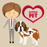 Pets love design Stock Image