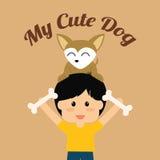 Pets love design Stock Images