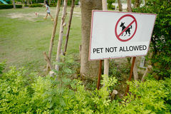 Pets not allowed sign Royalty Free Stock Image
