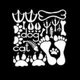 Pets o cartão dos passos ilustração stock