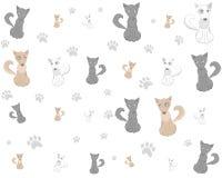 Pets o vetor do teste padrão do cão dos desenhos animados ilustração stock