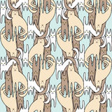 Pets pattern. Pattern cartoon fanny cats. Pattern for children Stock Images