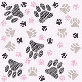 Pets paw background Stock Photos