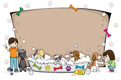 Pets Pflegensalonfahne Lizenzfreies Stockfoto