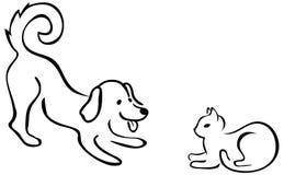 Pets playing Stock Image