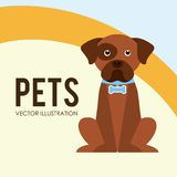 Pets poster Royalty Free Stock Photography