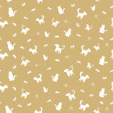 Pets seamless pattern. Brown seamless background with pet animals Royalty Free Stock Photography