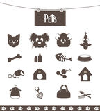 Pets. Set of icons pets for web and pet shop Royalty Free Stock Image