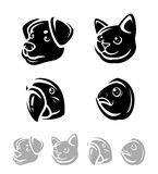 Pets set. Vector icons Royalty Free Stock Photo