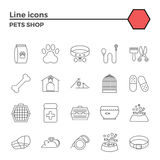 Pets shop icons Stock Image