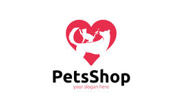 Pets Shop Logo Royalty Free Stock Photography