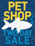 Pets shop sale Stock Image