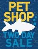 Pets shop sale Stock Image