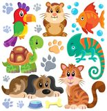 Pets theme collection 1 Royalty Free Stock Photos