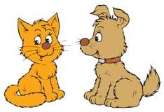Pets (vector clip-art). Vector clip-art / children's illustration for your design stock illustration