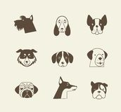 Pets vector icons - cats and dogs elements Royalty Free Stock Photography