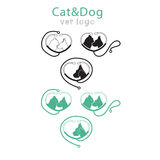 Pets Vector Logo in six variations royalty free illustration