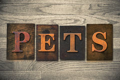 Pets Wooden Letterpress Theme Royalty Free Stock Photos