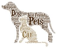 Pets - Word cloud illustration royalty free stock photos
