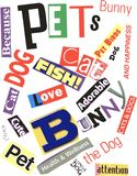 Pets Word Collage Stock Images