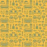 Petshop pattern vector illustration