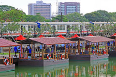 Pettah Floating Market, Colombo, Sri Lanka. The Pettah Floating Markets are located on Bastian Mawatha in Pettah, a neighborhood in Colombo, Sri Lanka, and Stock Image