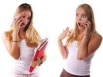 Pettegolezzo del telefono delle cellule Immagine Stock Libera da Diritti