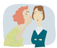 Pettegolezzo delle donne illustrazione di stock
