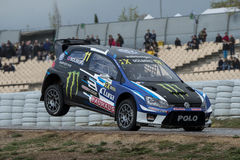Petter Solberg Barcelona FIA Rallycross Światowy mistrzostwo Obraz Royalty Free