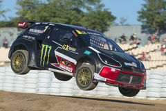 Petter Solberg.  Barcelona FIA World Rallycross Royalty Free Stock Photo