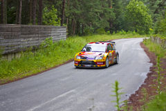 Petter Solberg/Chris Patterson. 2010 Rally Bulgaria - WRC Petter Solberg Royalty Free Stock Photos