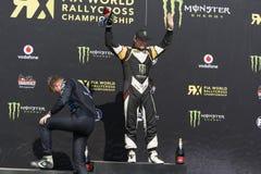 Petter SOLBERG zwycięzca Barcelona FIA świat Zdjęcia Stock