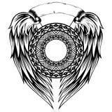Pettern_frame_wings 库存照片