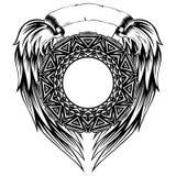 Pettern_frame_wings 免版税库存照片
