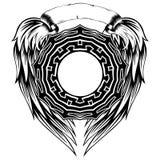 Pettern_frame_wings 库存图片