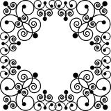 Petterned frame. Vector of black patterned frame Stock Photos
