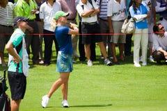 Petterson Blicke ein nach ihrem Schwingen LPGA Malaysia Stockbild