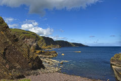 Pettico Wick, St Abbs Head, Berwickshire, Scotland Stock Photography
