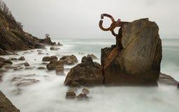 Pettinatura della brezza di mare Fotografia Stock