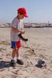 Pettinatura della spiaggia immagine stock