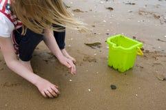 Pettinatura della spiaggia Immagini Stock Libere da Diritti