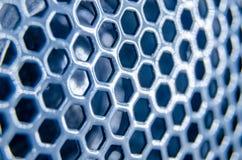 Pettine blu del miele della fine del microfono su Fotografia Stock
