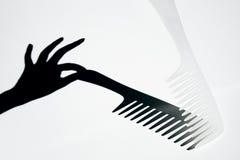 Pettine dei capelli con un'ombra Fotografia Stock Libera da Diritti