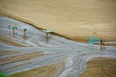Pettine della spiaggia - paesaggio di Xiapu Fotografie Stock