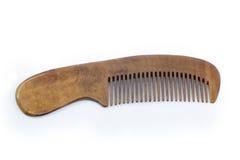 Pettine di legno fatto a mano (spazzola per i capelli) Fotografia Stock