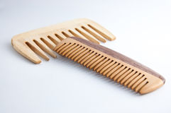Pettine di legno Handmade (hairbrush) Fotografie Stock