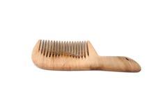 Pettine isolato con capelli Immagine Stock Libera da Diritti